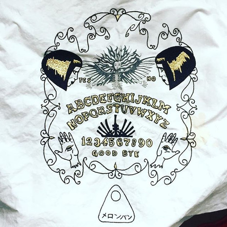 """Ouija"" vintage jacket embroidered by hand"