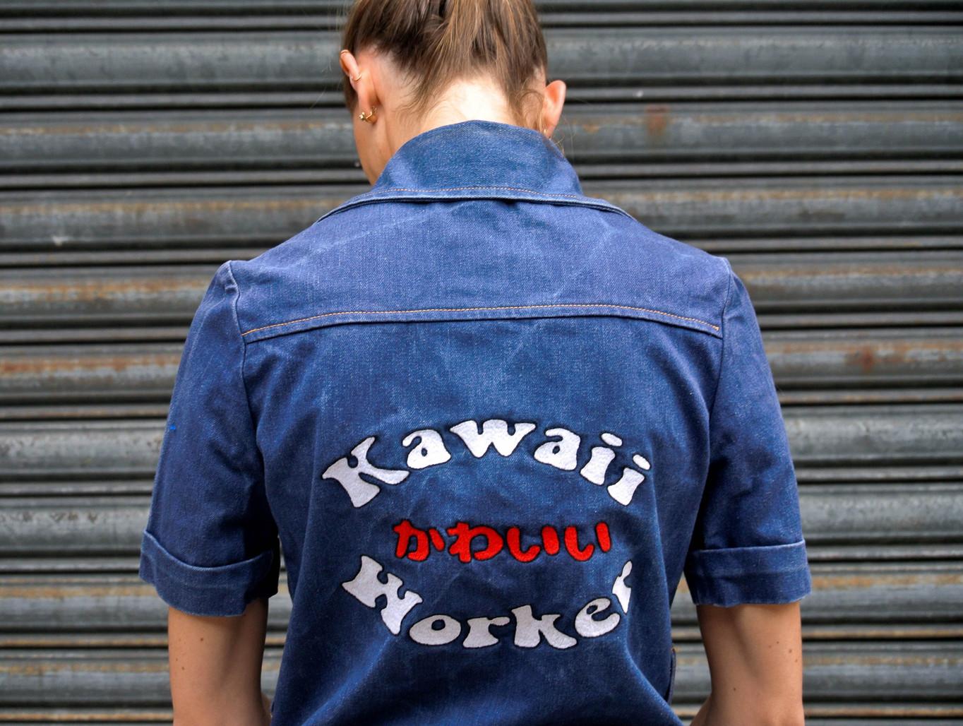 """Kawai Worker"" Shirt - Pain Melon"