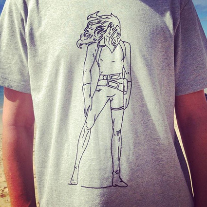 """""""Cobra"""" T-shirt embroidered by hand"""