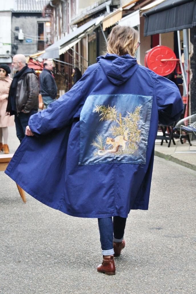 """""""Indigo Cat"""" Oversize Jacket"""