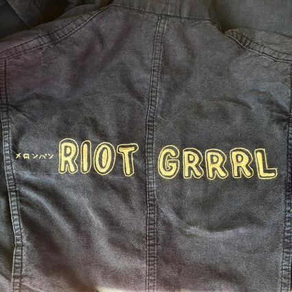 """""""Riot girl"""" on Vintage overall"""