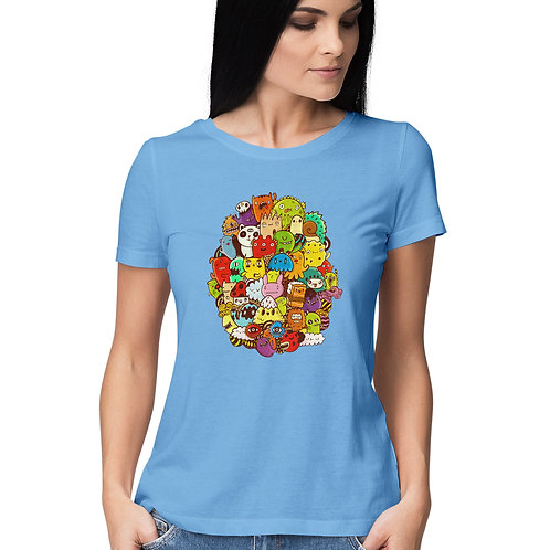 Women's short sleeve round neck t-shirt by SKETCH
