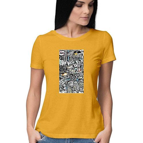 Women's short sleeve round neck t-shirt by SKETCH