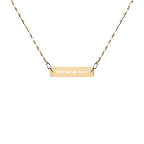 Engraved Custom Silver Bar Chain Necklace by SKETCH
