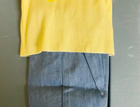 Yellow Top 2 Piece Doll Clothes