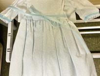 Blue Floral Doll Dress & Jacket