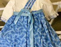 Blue Brush Doll Dress