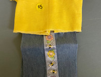 Jeans Flowers 2 Piece Doll Clothes