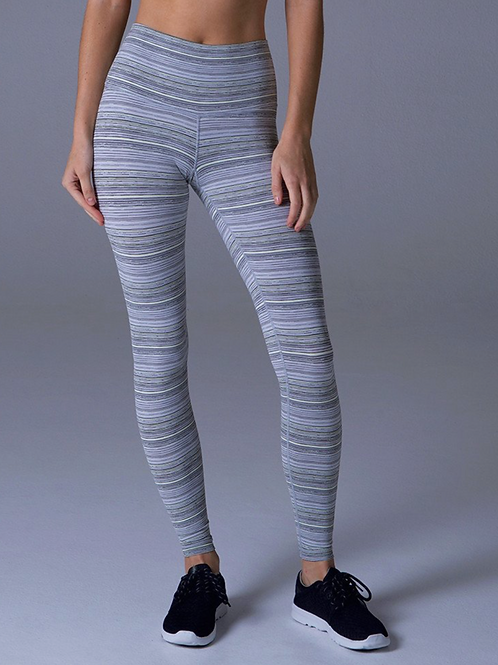 HIGH POWER LEGGING: MULTI COLOR STRIPE