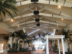 Pecky Cypress Truss Cladding And Strapping