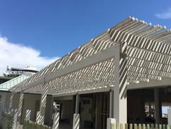 White-Washed Eucalyptus Pickets