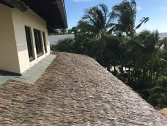 Synthetic Palm Thatch Install