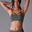 Thumbnail: HALO BRA: OLIVE SPACE DYE