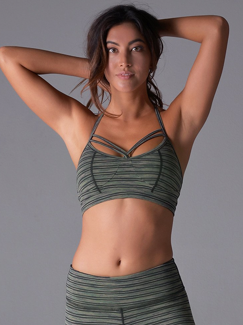 HALO BRA: OLIVE SPACE DYE