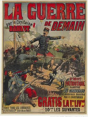 Couverure de l'édition en fascicules de la Guerre de Demain du Capitaine Danrit / Emile Driant