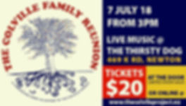 Event tickets to The Colville Family Reunion