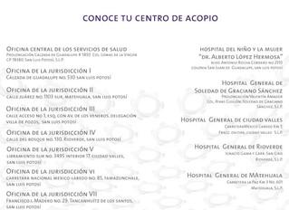 Centros de Acopio San Luis Potosí