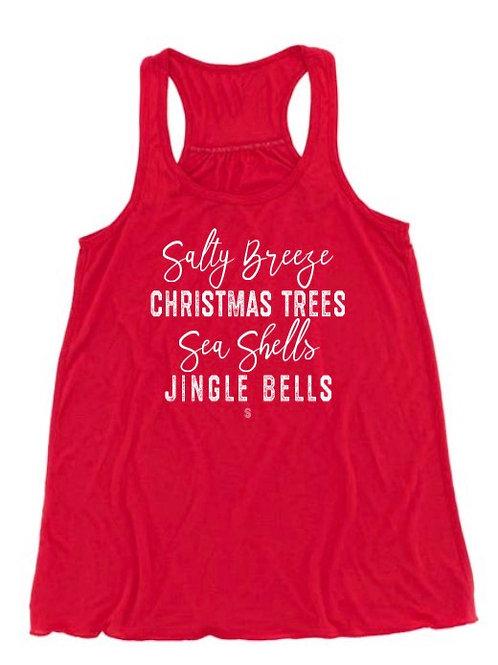 Sea Shells & Jingle Bells Flowy Tank