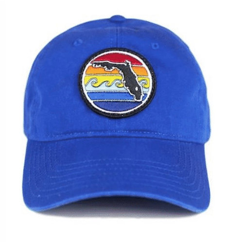 Unstructured hat - Florida sunset - Royal