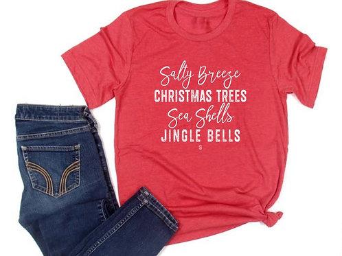 Sea shells & Jingle bells Short Sleeved Tee