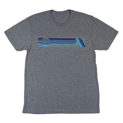 Gull Stripe Tee - Heather Grey