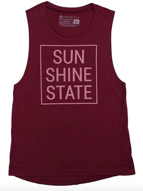 Sunshine State Muscle Tank - Crimson