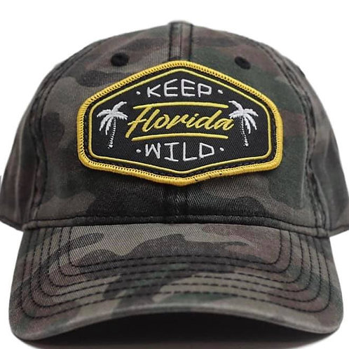 Keep Florida Wild Unstructured Hat - Camo