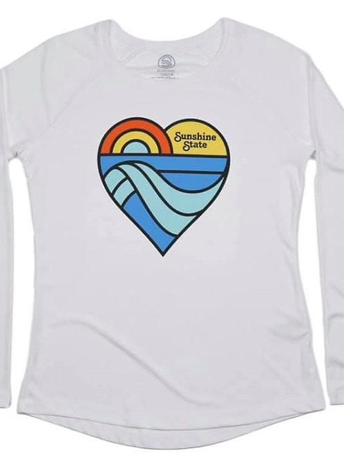 Heart Long Sleeve Ladies Solar Shirt