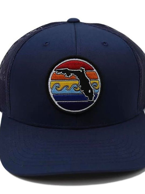 Yupong Trucker Hat - Florida Sunset -Navy/Navy
