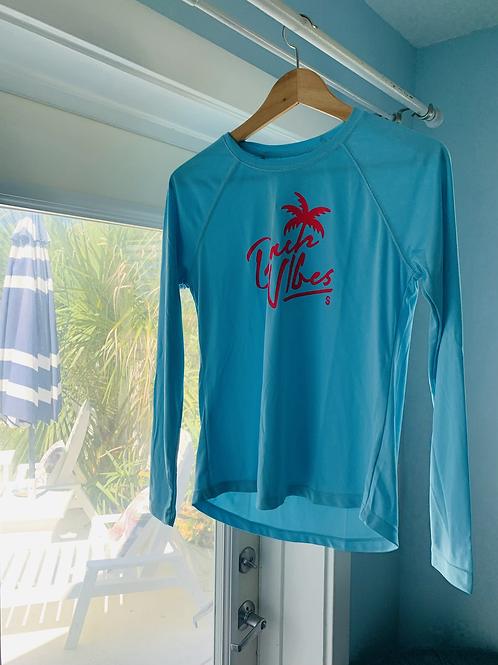 Beach Vibes Long Sleeve Ladies Solar Shirt