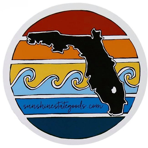 Florida Sunset Sticker