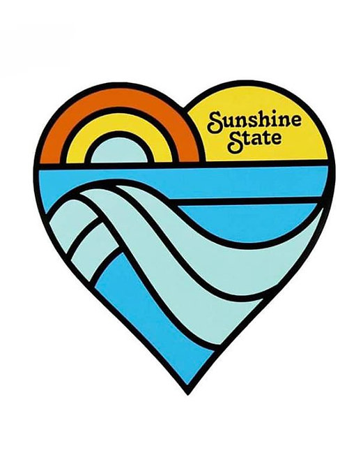 Sunshine State Heart Sticker
