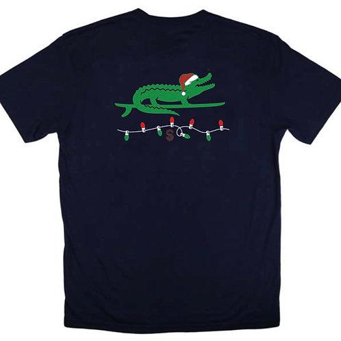 Santa Surf Gator Men's Short Sleeve Tee