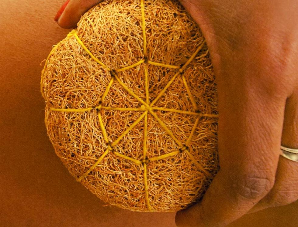éponge exfoliante en radicelle de vétiver