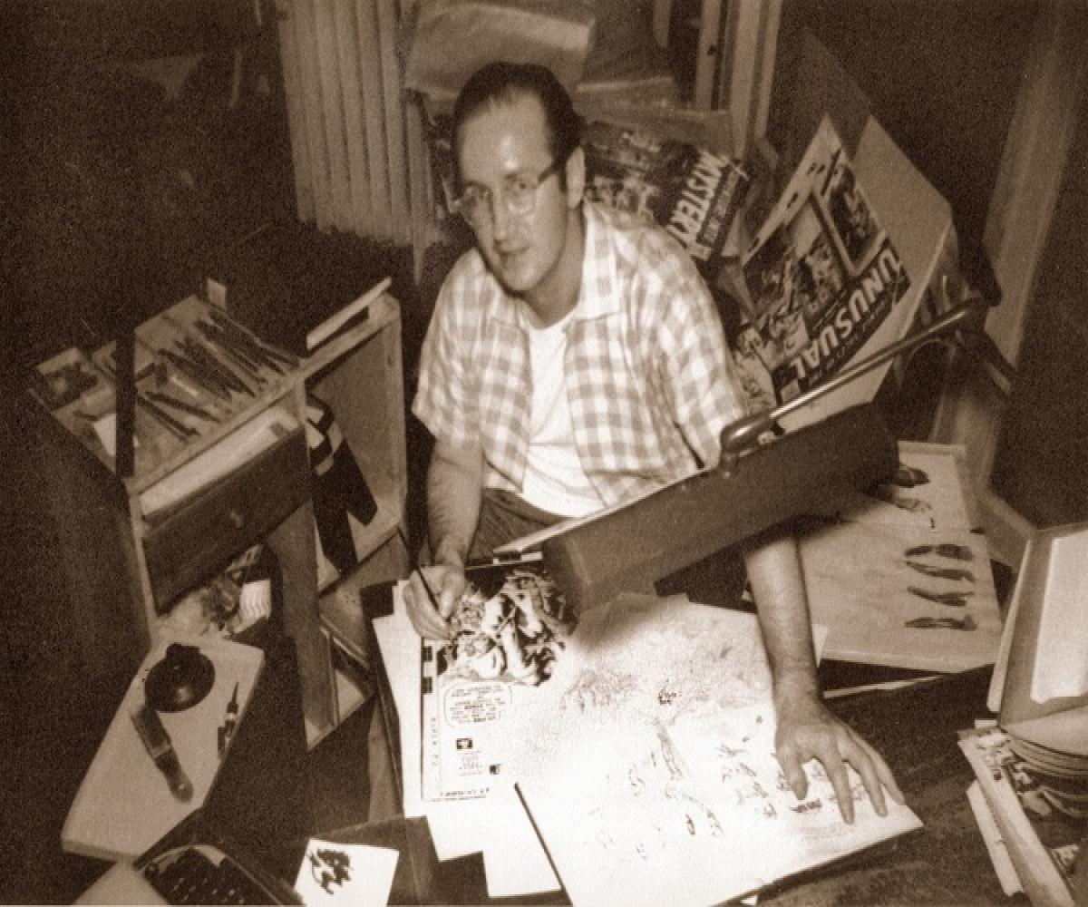 Another of the rare photos of Ditko