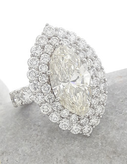 Marquise Shaped Engagement Ring