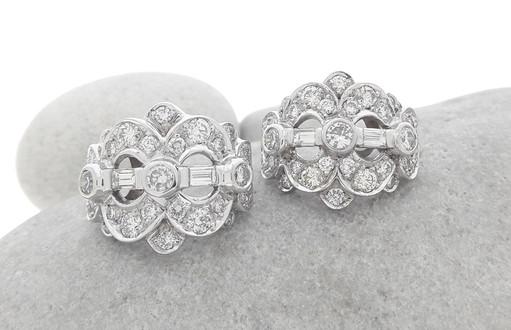 White Gold Diamond Dress Earrings