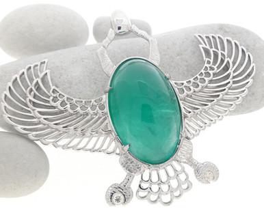 Emerald Scarab Pendant