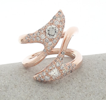 Creative Rose Gold Dress Ring