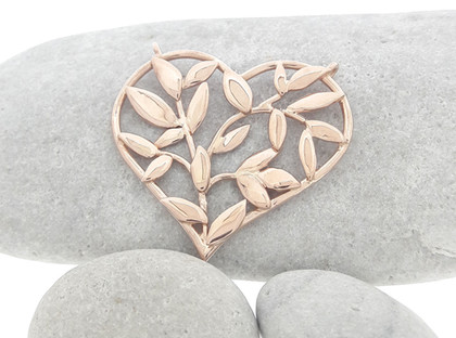 Leaf Shape Heart Pendant