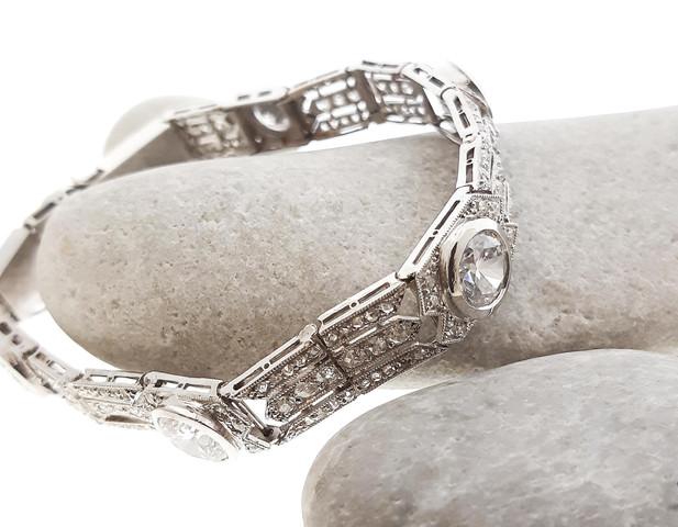 Antique White Gold Bracelet