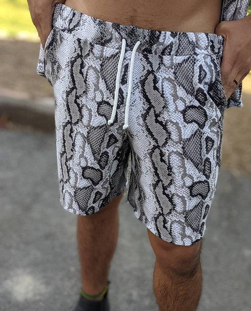 Blanco Snake Shorts