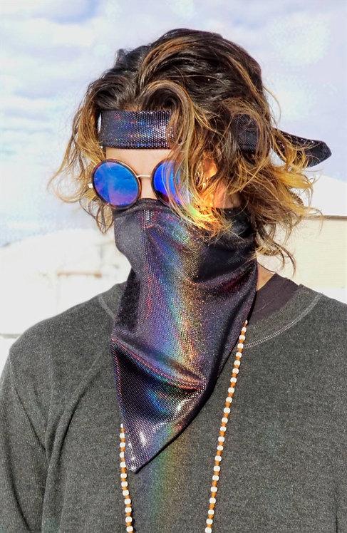 Black Iridescent Bandana/ Headband