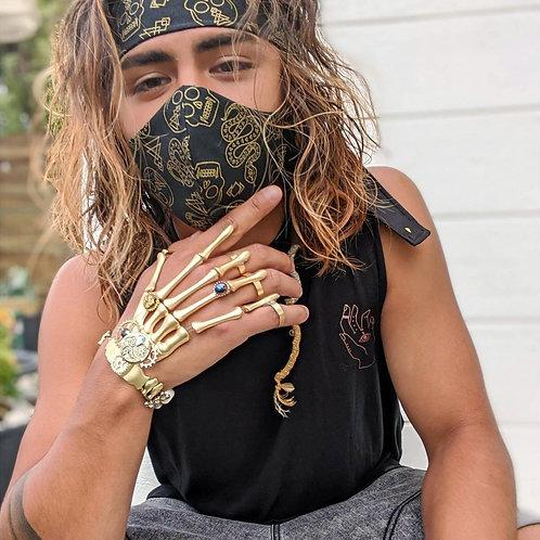 Gold Skulls Headband