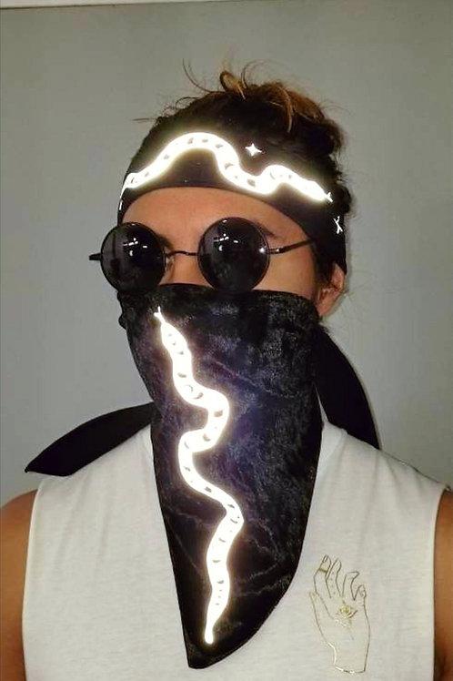 Reflective Snake Headband & Bandana