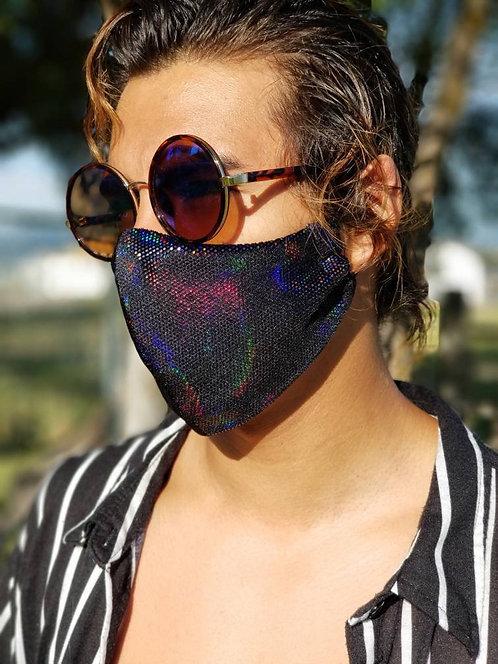 Black Iridescent Mask
