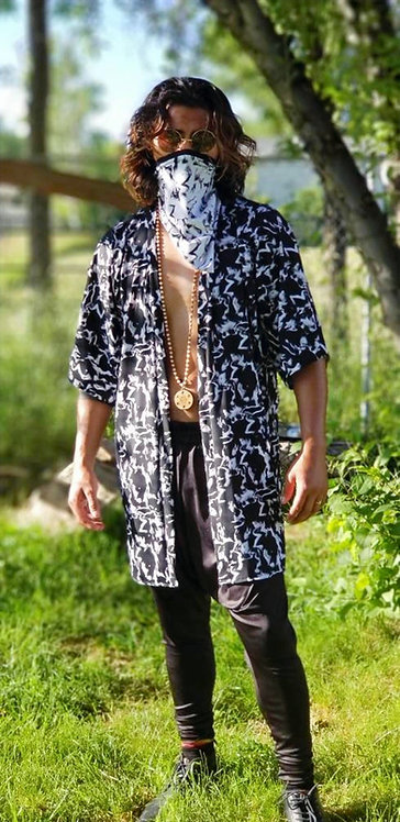 Black Marble Kimono