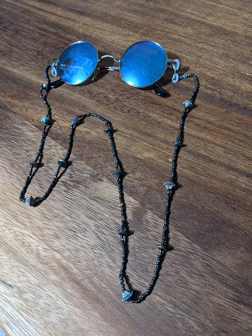 Blue Glasses w/ Iridescent Chain
