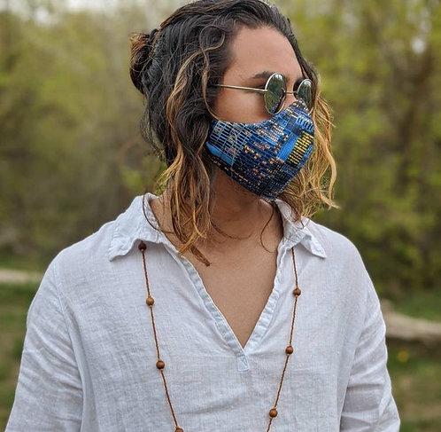 Blue Skyline Mask