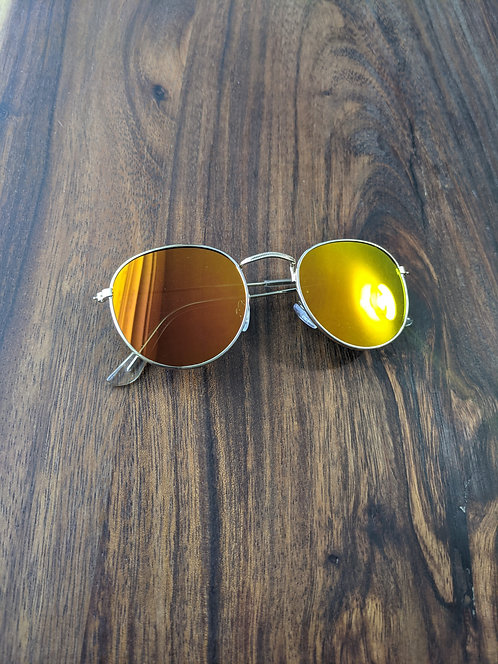 Red & Gold Vintage Frame Sunglasses